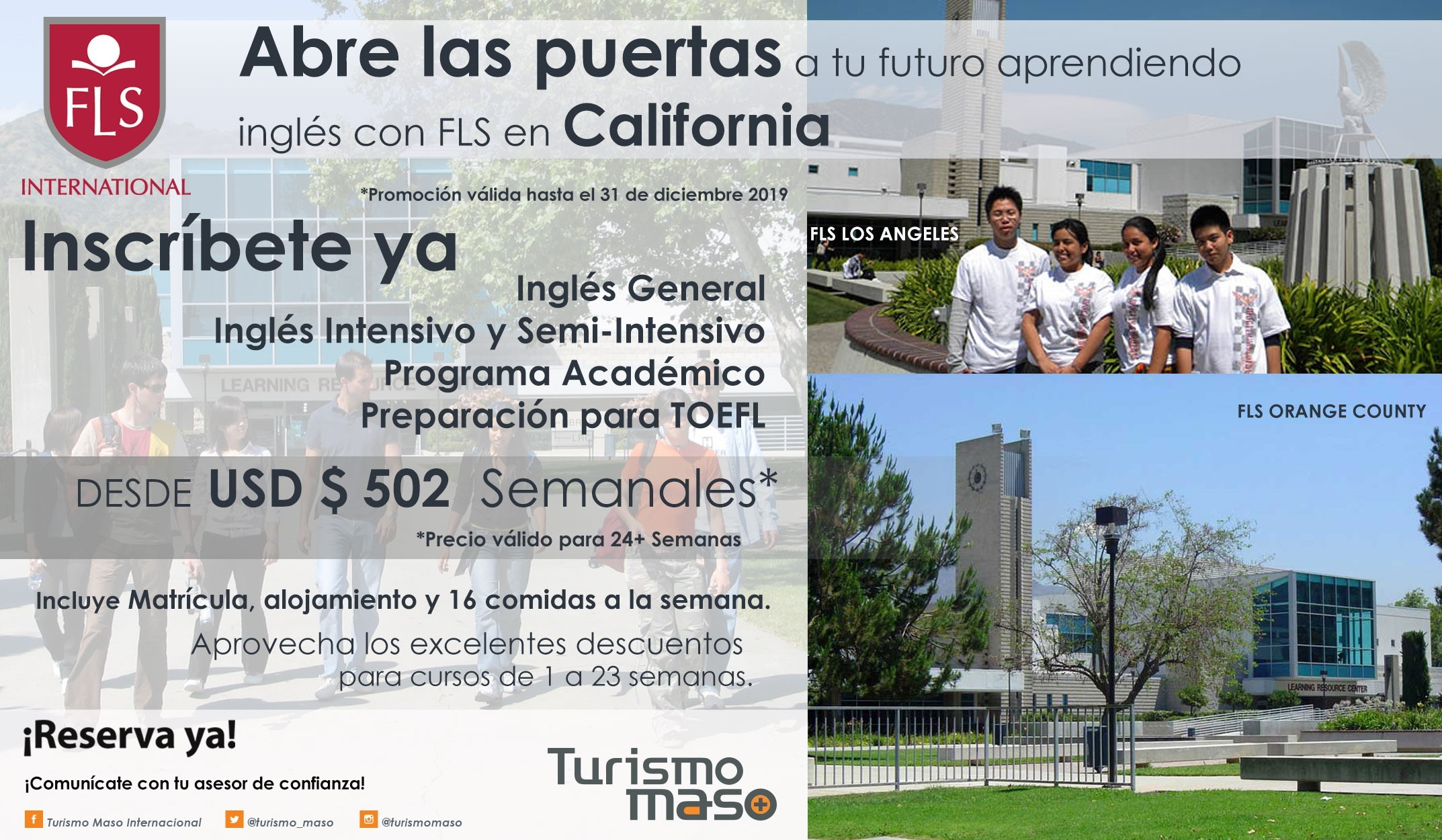 inglés, fls california