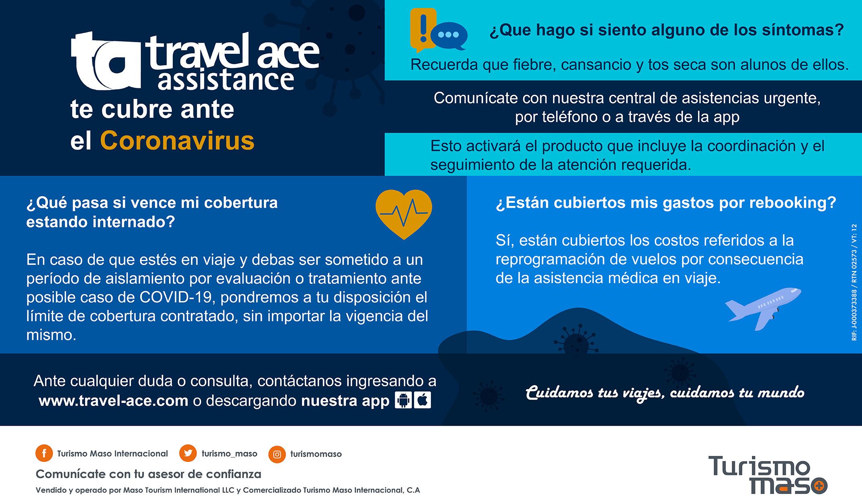 Viaja seguro con Turismo Maso y previene el Coronavirus